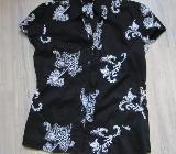 Damen Sommer Kostüm schwarz mit weißen Mustern Gr. 34/36 von s.Oliver - Hohenroth