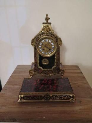 13002 Boulle Tischuhr Historismus 1820 - Kostenloser Versand