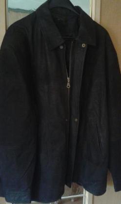 Herren Jacke echt Leder schwarz Größe 52