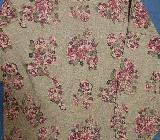 Damen Sweat Shirt Gr. 48 50 Grau mit Roa/Weinrot Rosen - Bergisch Gladbach