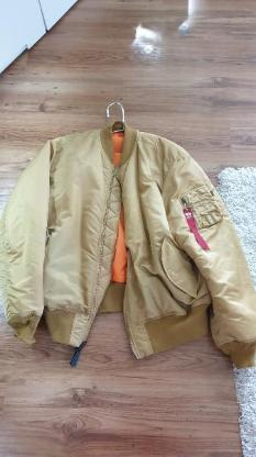 Alpha Industries Bomberjacke in Goldfarbe 3 XL
