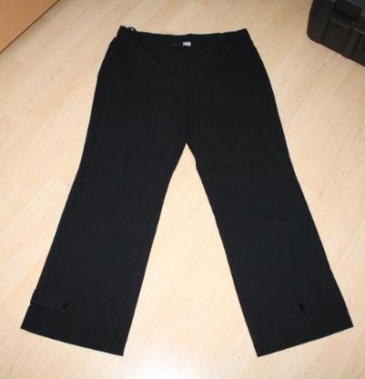 Damen Bengalin Hose Stretchhose Business Stoffhose Straight-Fit Damenhose Kurzgröße elegant lang schwarz Gr. 44 (L)