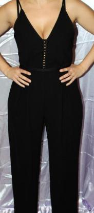 schwarzer Jumpsuit Gr 40 von H&M