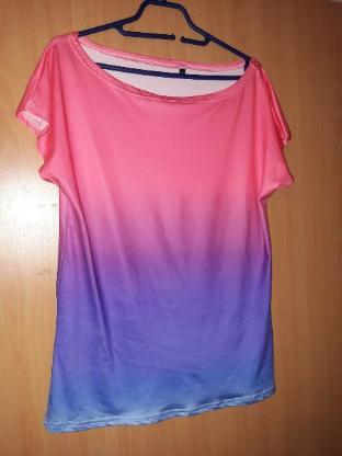 Tshirt Farbverlauf GR L Damen Oberte Tshirt bunt