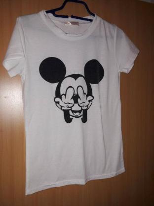 Tshirt GR S Mickey Maus in weisss schwarz