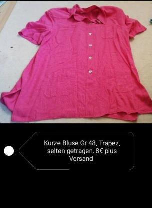 Kurze Bluse Gr 48, trapez