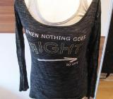 Shirt, doppellagig, anthrazit/grau, Größe XS, Clockhouse, neuwertig - Mülheim an der Ruhr