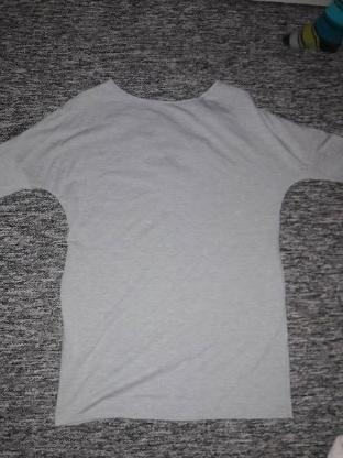 Longshirt grau GR L Top Zustand Shirt Damen Oberteil 3/4 ärmlig