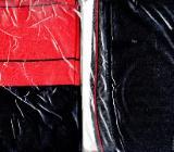 Strümpfe mit Naht in Bi-color 10 den (schwarz-rot) OVP neu - Marl