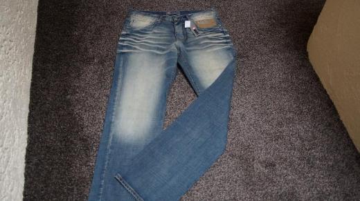 #Jeans f. Herren m. Used-Effekten, Gr. 33L36, #NEU, #4-Wards