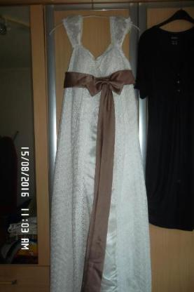 Abendkleid creme farbend Gr.40/42