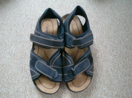 Rieker Sandalen, dunkelblau, Größe 45, neu