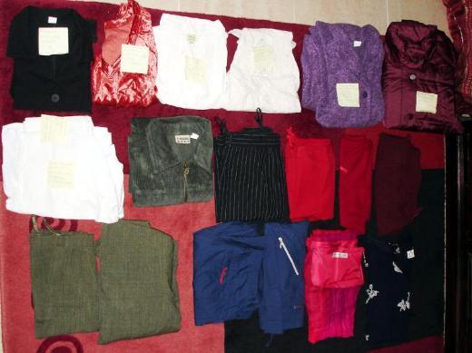 Kleiderpaket Damen Gr. 42 - 19 Teile - Hosen - Rock - Bluse - Jacke - Weste - Kleid.