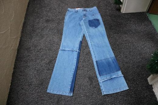 #Jeans m. Fransen u. Destroyed, Gr. 28L34, #NEU, #Naoki