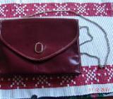 Schultertasche Handtasche Unterarmtasche Rot Bordeauxrot Vintage - Laboe
