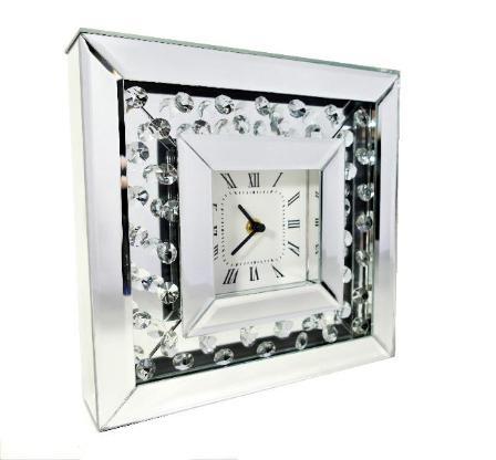 Tischuhr Diamond Kaminuhr Standuhr Buffetuhr Wohnzimmeruhr Strasssteine Uhr