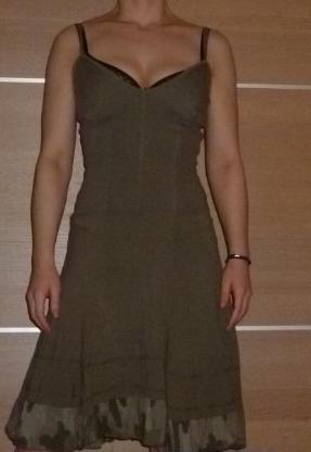 Sommerkleid khaki 100% Baumwolle Größe 34