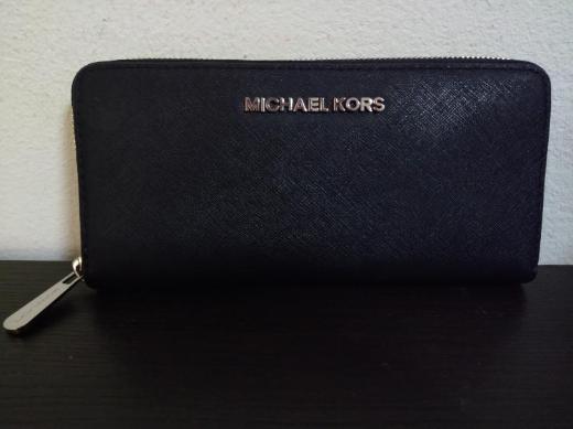 Michael Kors Jet Set Geldbörse, schwarz/silber, Rechnung