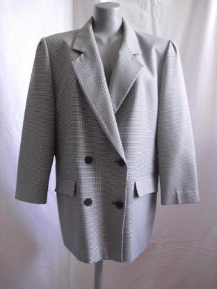 Damen-Blazer mit Pepita-Muster Gr. 42