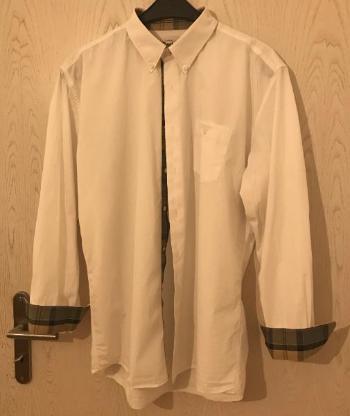 Barbour Herren-Hemd The Oxford weiß, Größe XL