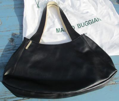Damen Handtasche, Leder, schwarz, creme