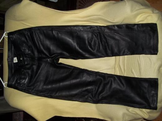 tolle Lederhose MODEKA Gr.33 schwarz Glattleder - Top - Freizeit