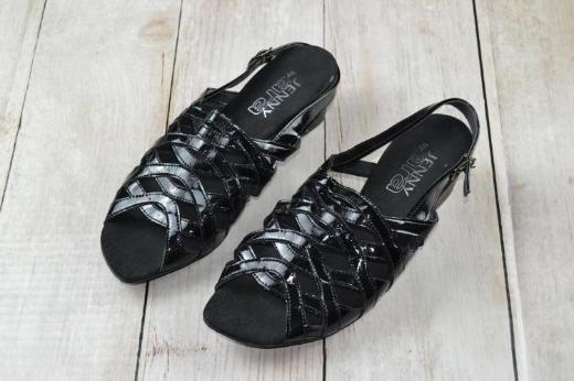 Schicke Sandalen Sandaletten Jenny by Ara lack schwarz gr 38,5