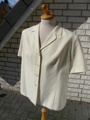 Damen Blazer Gr. 46 Damenblazer Kurzarm Jacke beige Canda C&A  5,-