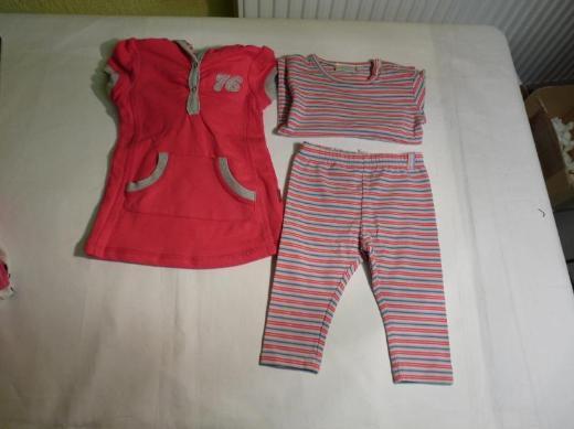 Feetje Mädchen 68 Neu T-shirt Kleid Softhose Legging Rosa Pink