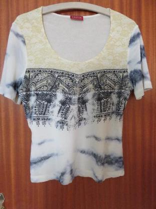 schickes Shirt mit Pailletten von Taifun, Gr.42