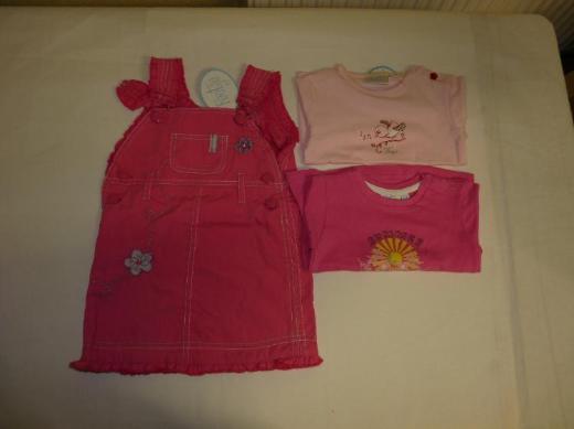 Feetje Mädchen Gr. 68 Neu Baby Kleid T-Shirt rosa Pink Baumwolle