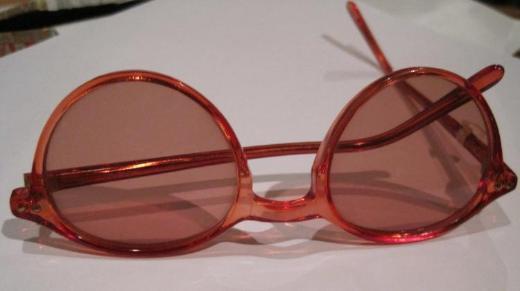 Mädchen-/Teenager-Sonnenbrille, rosé. Glasfarbe: leicht rosé-braun
