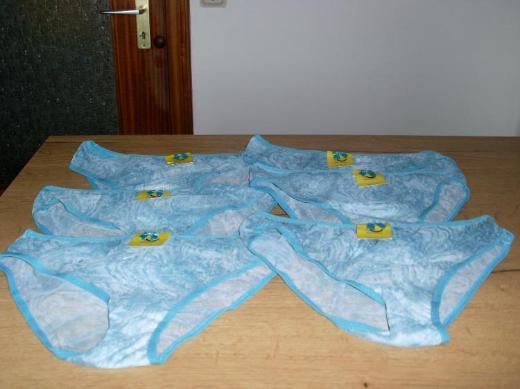 NEU: 6 Stück Damen Slips in türkis Gr. M/L