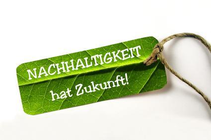 Bild Schild: Nachhaltigkeit hat Zukunft!